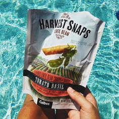 Poolside with the perfect snack. #SummerVibes  #: @busyhealthymom
