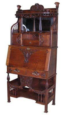 Antique Oak Cowboy Desk