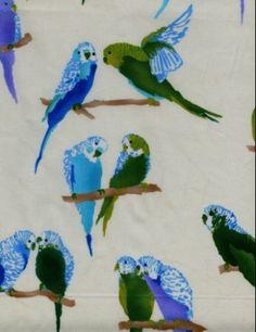 Luli Sanchez - #parakeet #budgie #textile