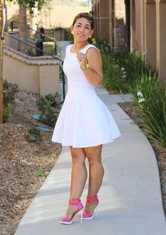 DIY White Pique Dress
