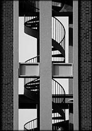 Double Helix - photograph by James Aiken  #jamesaiken #spiralstair #staircase #helix #artforsale
