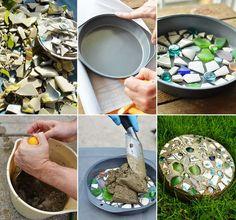 Cake Pan Garden Stepping Stones Video