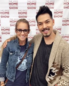 Our favorite shot of Nicole Curtis & Tyler Wisler from the Johnson County Home + Remodeling Show.