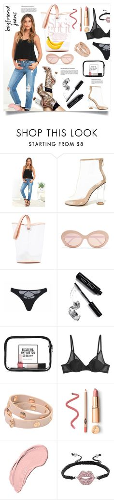 """Boyfriend Jeans"" by fashionblogitaly ❤ liked on Polyvore featuring Billabong, Cape Robbin, Building Block, Sunday Somewhere, Agent Provocateur, Bobbi Brown Cosmetics, WithChic, L'Agent By Agent Provocateur, Tory Burch and NYX"