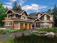 Plan W23338JD: Craftsman, Vacation, Northwest, Corner Lot House Plans & Home Designs