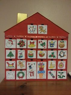 Fab Lucie Heaton advent calendar from issue 182 of Cross Stitch Crazy, beautifully stitched by Selberg Selberg PARSONS! Christmas Makes, Christmas Cross, Christmas Countdown, Food Gifts, Homemade Christmas, Cross Stitch Patterns, Pattern Design, Stitching, Holiday Decor