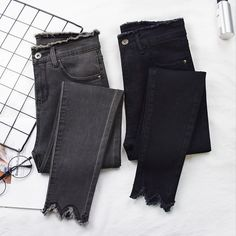 Cheap Offer of 2019 Women Jeans High Elastic Stretch Jeans Female Washed Denim Skinny Female Ankle Pencil Pants Stretch Streetwear Trousers . Stretch Jeans, Trousers Women, Pants For Women, Clothes For Women, Jeans Women, Streetwear, High Jeans, High Waist Jeans, Outfits