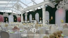 WHICH IS YOUR FAVORITE #TENTED SPACE? #PrestonBailey highlights the transformation of tents into #luxurious #wedding #receptions on his personal blog. Click the image to read more and follow him on blog.prestonbailey.com! #Weddings #Receptions #Chandeliers #GardenWeddings #OutdoorWedding #WeddingTents
