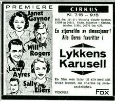 Kinoreklame 1933 Lykkens Karusell