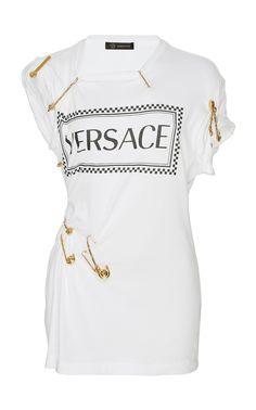 aebdd29c Click product to zoom Versace Top, Cotton Logo, I Dress, Menswear, Fashion