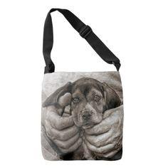 My Buddy Beagle Puppy Photographic Art Crossbody Bag - vintage gifts retro ideas cyo