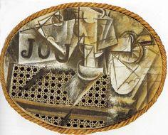 Plus de 1000 id es propos de pablo picasso 1907 1914 sur - Pablo picasso nature morte a la chaise cannee ...