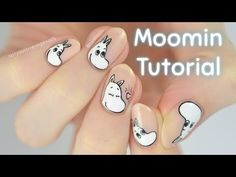 Moomintroll from the Moomins is the next character to be added to my Character Cuticles series! I was originally going to paint a different charact. Moomin, Peach Nails, Nail Tutorials, Nail Arts, Nail Inspo, Nail Designs, Make It Yourself, Youtube, Character