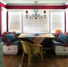 Breakfast Nook via PLC Interiors :: Devine Paint Center Blog