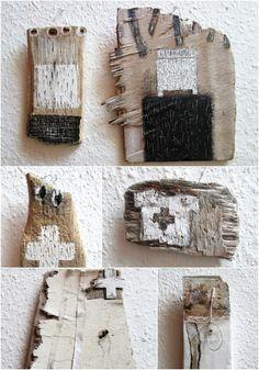 mano k., malerei auf treibholz / driftwood painting