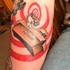 Looooove this Calvin and Hobbes tattoo!