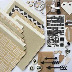 """Kraft Paper Minialbum / Journal - Basis Kit Kleines (6x6"""" ~ 15,2x15,2cm) Album um Fotos und Notizen festzuhalten. Gehst Du auf Reisen, baust Du ge..."""