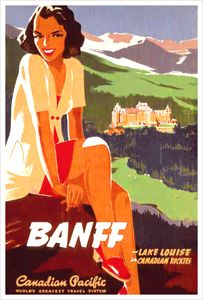 Canadian Pacific Banff Girl (c.1930) Vintage Travel Poster Reprint - Eurographics Inc.