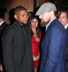 Usher and Leonardo DiCaprio at Yahoo Style's Met Gala After Party. See all the outfits at the Met gala after parties.