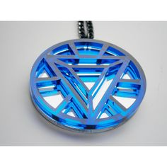 Sale 30% - Iron Man Necklace -Heart Arc Reactor - Laser Cut... ($14) ❤ liked on Polyvore