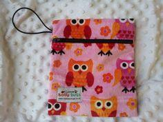 Mango Owl Pink Small Waterproof Bag wetbag by LittleBabybugsLtd, £8.50
