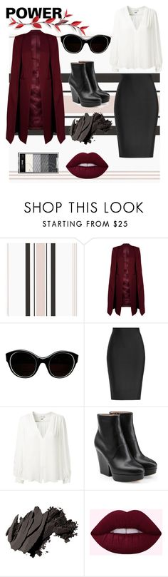 """women power"" by hla-ayman ❤ liked on Polyvore featuring WithChic, Sonia Rykiel, Roland Mouret, Erin Fetherston, Maison Margiela and Bobbi Brown Cosmetics"