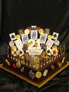 Simple but nice cake for guys 21st birthday Baking Pinterest