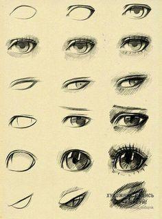 step-by-step semi realistic eye drawing tutorial. Drawing Techniques, Drawing Tips, Drawing Reference, Drawing Sketches, Art Drawings, Sketching, Design Reference, Eye Sketch, Poses References