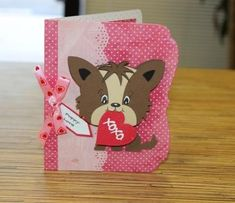 Here are some Valentine cards I have made for my grandchildren and niece and nephew. I used various cricut cartridges, Create a Critter 2, ...
