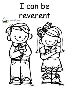 behold your little ones lesson 20 i will be reverent - Nursery Coloring Pages