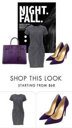 """""""Untitled #449"""" by maryfahmy ❤ liked on Polyvore featuring Audrey 3+1, Christian Louboutin and Yves Saint Laurent"""