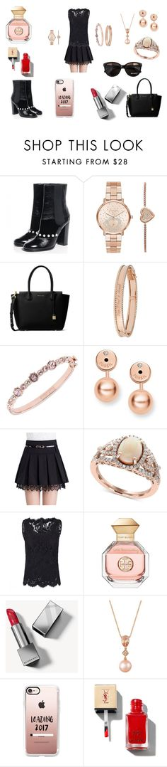 """Untitled #10"" by raven-lilith-ackerman on Polyvore featuring Chanel, Michael Kors, MICHAEL Michael Kors, Van Cleef & Arpels, Givenchy, FOSSIL, Effy Jewelry, Dolce&Gabbana, Tory Burch and Burberry"