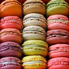 French Macarons/Macaroons - Fine Art Photograph of green,pink,orange,brown, and purple macarons in Paris Gourmet Recipes, Dessert Recipes, Desserts, Laduree Paris, French Macaroons, Laduree Macaroons, Creme Brulee, Marie Antoinette, Love Food