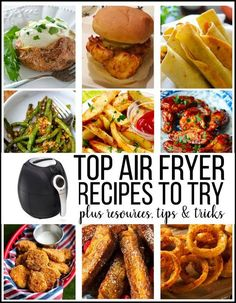 Top Air Fryer Recipes to Try – resources, tips and tricks to using your device.thirtyhandmad… Top Air Fryer Recipes to Try – resources, tips and tricks to using your device. Air Fryer Recipes Wings, Air Fryer Recipes Appetizers, Air Fryer Recipes Vegetables, Air Fryer Recipes Vegetarian, Air Fryer Recipes Low Carb, Air Fryer Recipes Breakfast, Air Fryer Dinner Recipes, Cooking Recipes, Cooking Tips