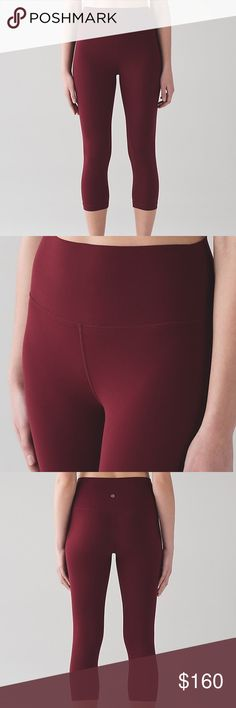 NWT Lululemon Align Crop Deep Rogue NWT buttery soft Align Crop. Color sold out online and hard to find in stores. Size 4. lululemon athletica Pants Leggings