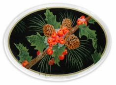 Peggy Karr - Pinecones and Holly