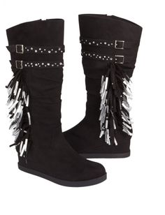 Justice is your one-stop-shop for on-trend styles in tween girls clothing & accessories. Shop our Mid-Calf Fringe Boots. Justice Shoes, Justice Clothing, Justice Outfits, Justice Stuff, Cute Skirt Outfits, Cute Skirts, Girl Outfits, School Outfits, Little Girl Shoes
