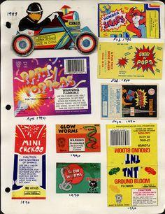 Fireworks packaging, 1989-90