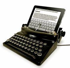 iPad typewriter.  Cool !