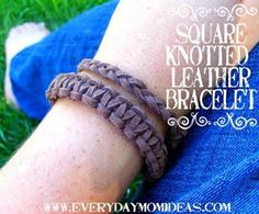 DIY Jewelry DIY Bracelet DIY Square Knotted Leather Bracelet