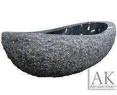 Amazing natural stone bathtub