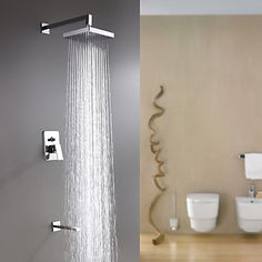 Sprinkle® by Lightinthebox - Wall Mount Contemporary Chrome Rain Shower Faucet - USD $ 89.99