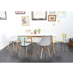 Lot de 2 chaises design Ormond SteelWood DRAWER