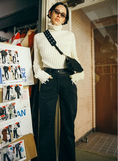 PERVERZE Leather Belt Pants #PERVERZE #PVZ #AW17
