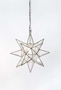 Worlds Away Clear Glass Star Chandelier-Available in Three Different Sizes, Smal - contemporary - Pendant Lighting - The Well Appointed House Star Chandelier, Glass Chandelier, Chandelier Lighting, Glass Lanterns, Star Lanterns, Flower Chandelier, Glass Lamps, Vanity Lighting, Eclectic Chandeliers