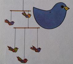 Vogeltjes mobile knutselen - Hobby.blogo.nl - Hobby.blogo.nl