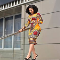 Ankara Short Gown Dresses: Styles for Female 2019 Ankara Short Gown Dresses, Ankara Dress Styles, African Print Dresses, African Print Fashion, African Fashion Dresses, African Dress, Africa Fashion, African Prints, African Attire