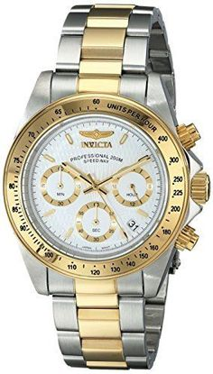 Invicta Men's 9212 Speedway Analog Japanese Quartz Chronograph Stainless Steel Watch: Invicta: Watches - nice watches, best watches for women, watch batteries *ad Mens Watches Under 100, Watches For Men, Popular Watches, Invicta Speedway, Seiko, Emporio Armani, Cool Watches, Men's Watches, Wrist Watches