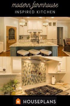 modern farmhouse, kitchen ideas, decor inspiration Modern Farmhouse Plans, Farmhouse Decor, Cozy Living Rooms, Classic Style, Architecture Design, Floor Plans, Flooring, Kitchen Ideas, Inspiration