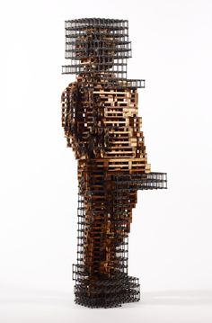 art,sculpture,wood,steel,architecture,pixel,cube
